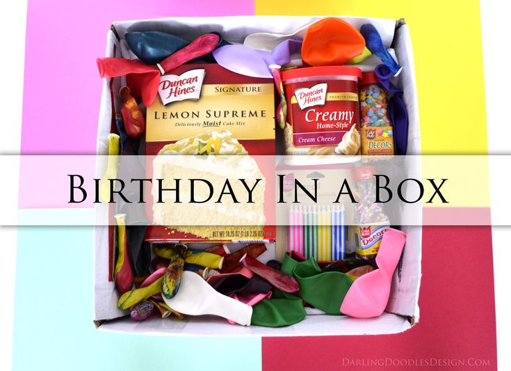 Sending a Birthday in a Box