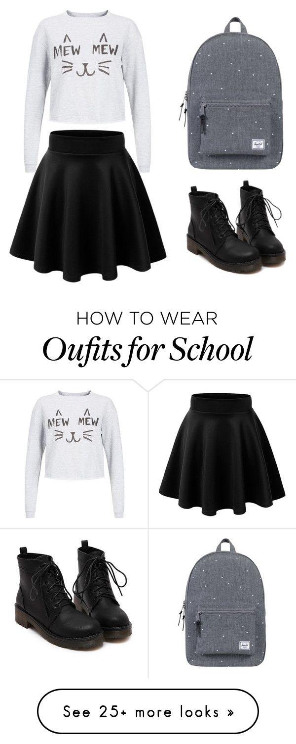 """School day."" by julifisenta on Polyvore featuring Herschel Supply Co."
