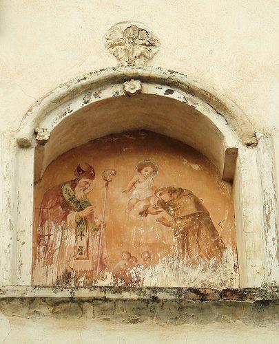 lunetta votiva Italian fresco