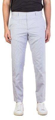 Prada Men's Cotton Patterned Slim Fit Trouser Pants Blue.