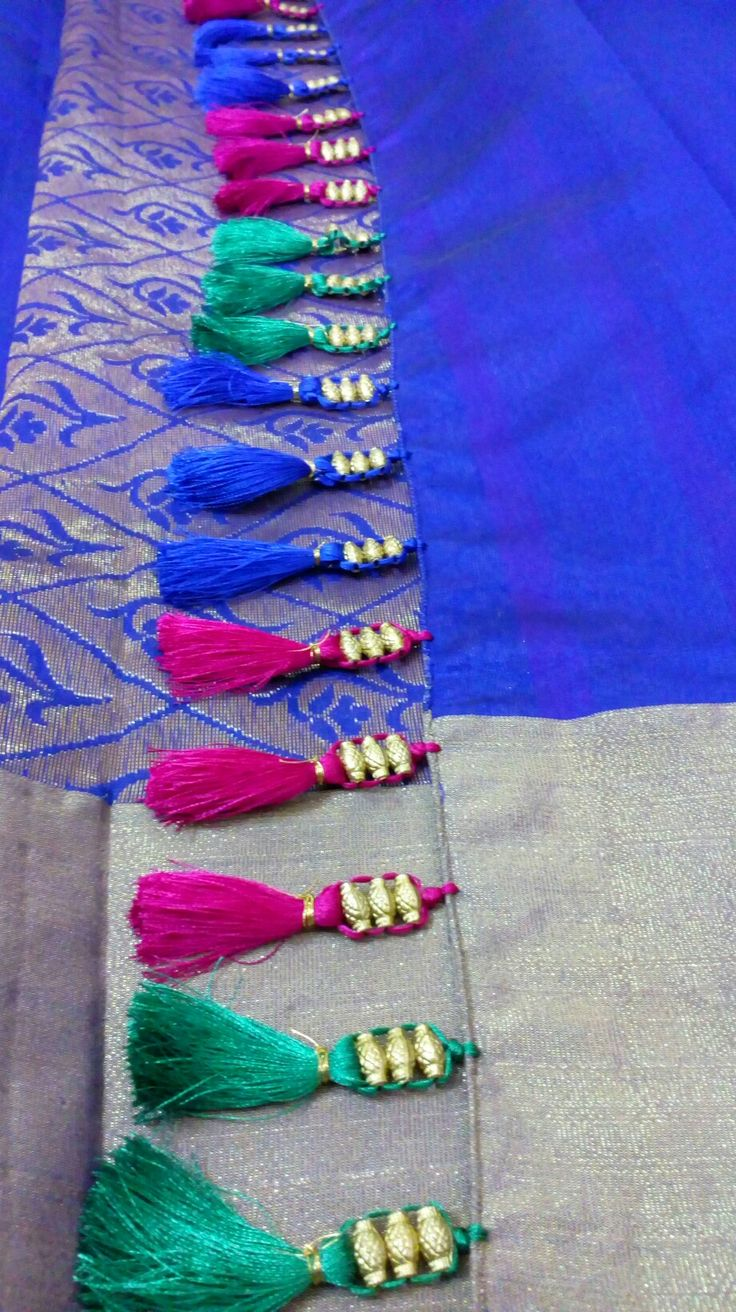Unique beaded saari kuchu...