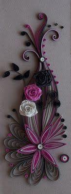 neli: Quilling card purple and black