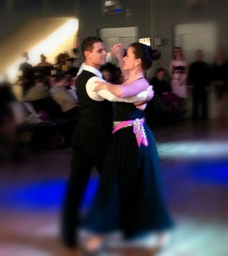 Mattea dances foxtrot at Arthur Murray