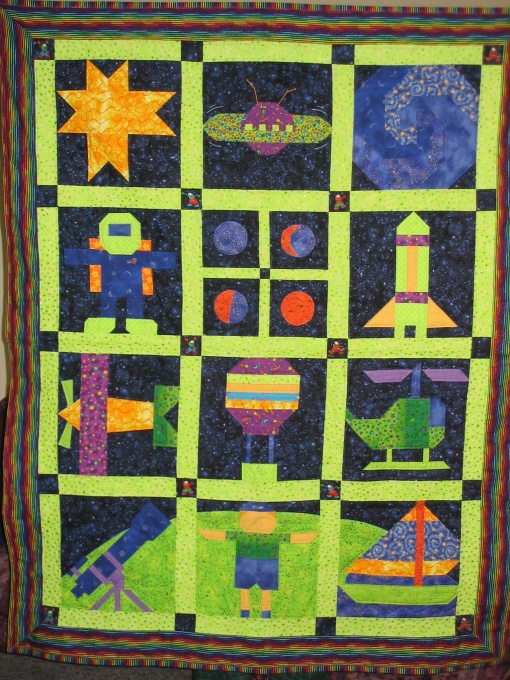 Information about rate my space space theme and initials for Outer space quilt patterns