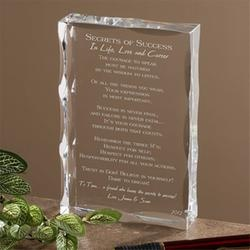 Personalized Graduation Sculpture - Secrets of Success Keepsake  $38.95