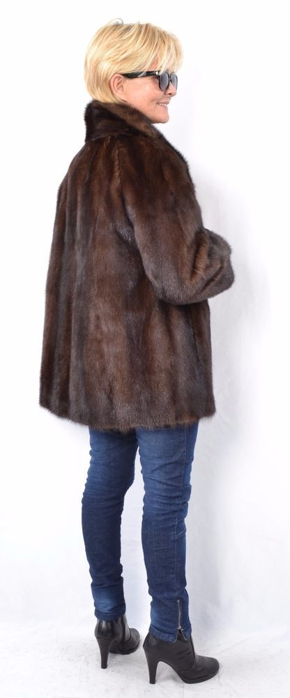 US943 Mink Fur Jacket Coat  chaqueta de vison куртка норка Nerzjacke Nerz ca. L  #Handmade #BasicJacket