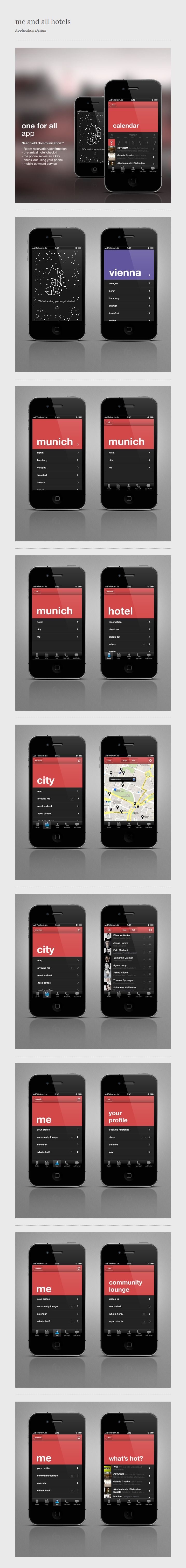 me and all hotels - iPhone App / Conny Naumann #ui #design #user #iterface #ios
