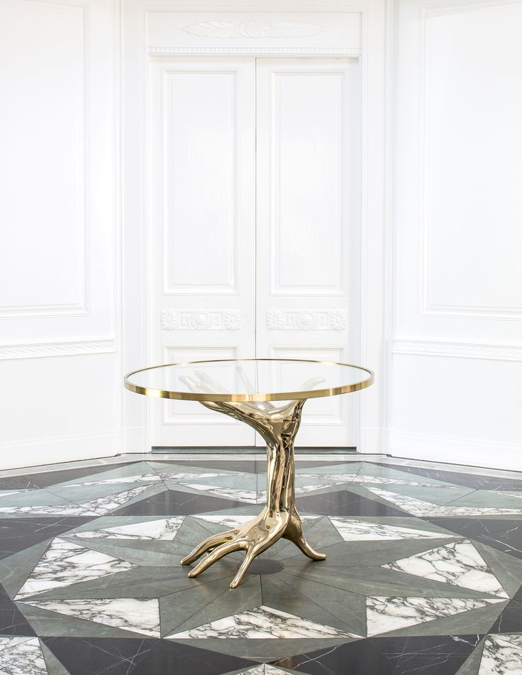 KELLY WEARSTLER   DICHOTOMY TABLE. Unique bronze statement table