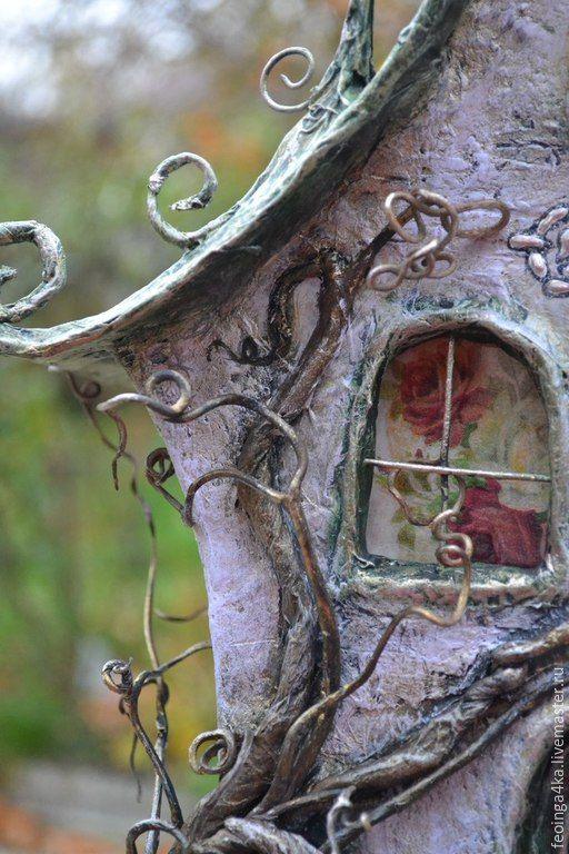 Купить Дом-ночник. - разноцветный, дом, ночник, Папье-маше, бумага, для дома и интерьера