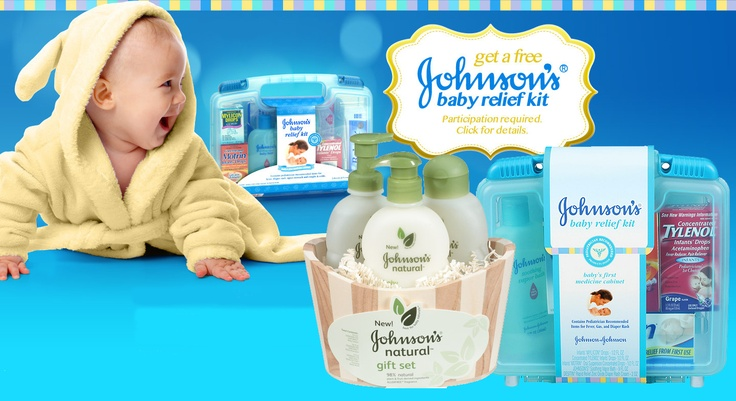 free johnson's baby relief kit.