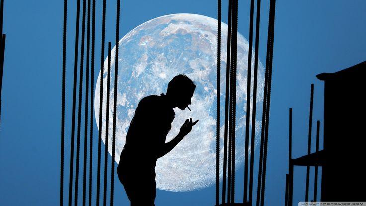 Man And Moon [19201080] 736