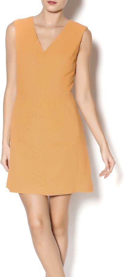 Esley Collection Orange Lace Dress