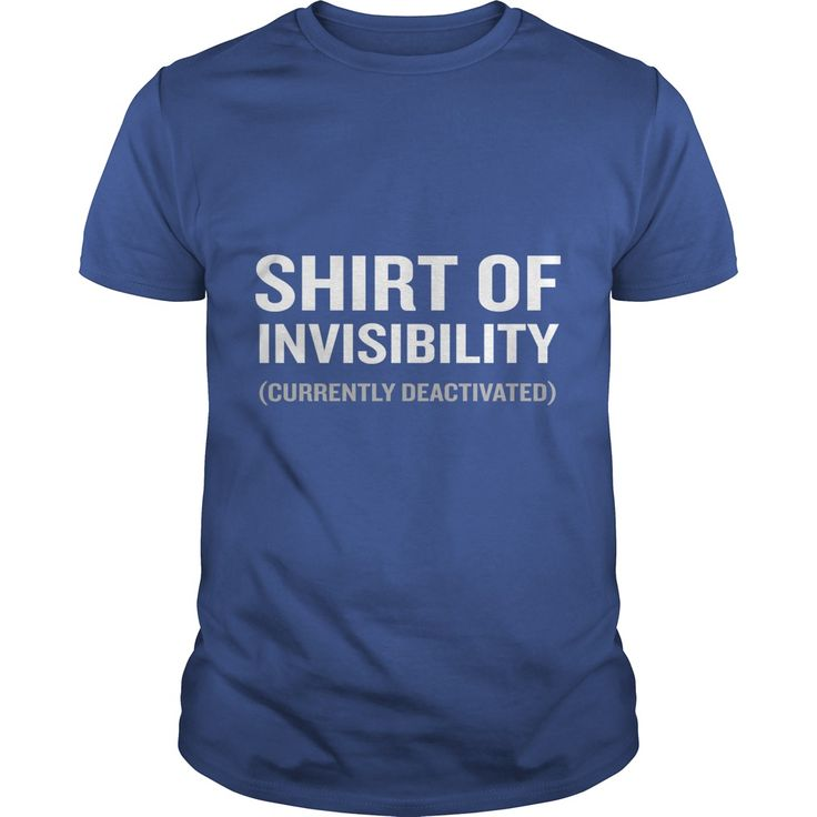 Shirt of Invisibility Gamer Lover Funny Geek Wizard T-Shirt