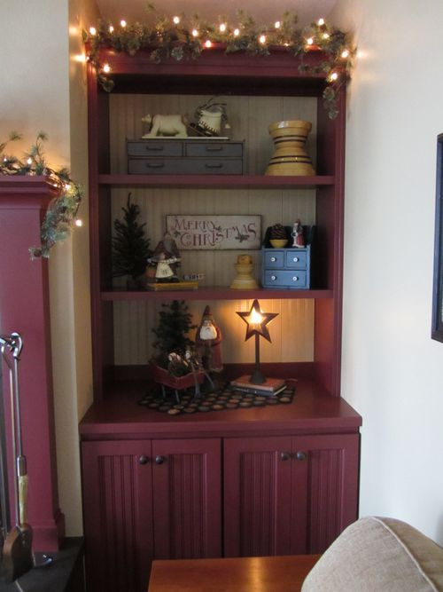 I like the displays on this one not too cluttered for Farmhouse christmas decorating ideas
