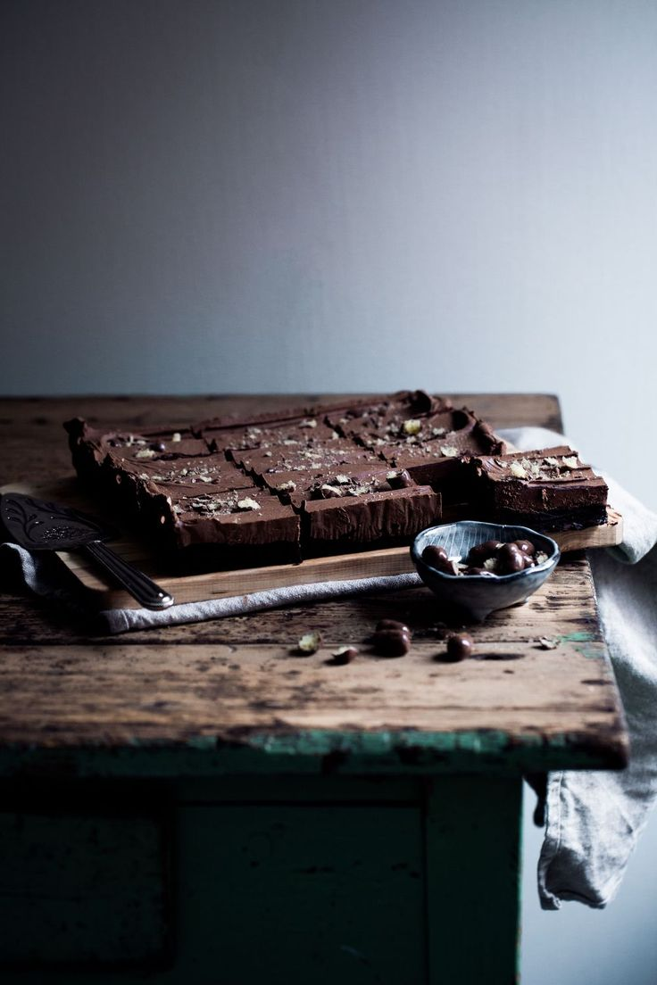 [ made by mary ]  Sticky Brownie with Chocolate Chips, a silky smooth Milk Chocolate Frosting and Chocolat Crisp