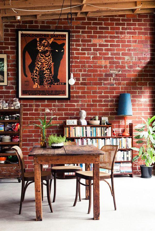: Design Homes, Bricks Wall, Design Interiors, Interiors Design, Exposed Brick, Expo Bricks, Modern Interiors, Homes Interiors, Modern Homes