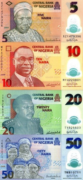 Nigerian Currency before the arrival of Ghana must go bags :)