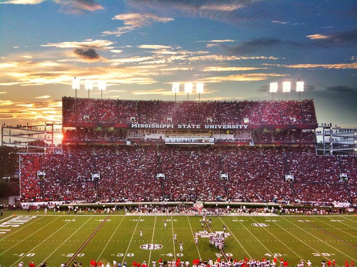 Sunset over Davis-Wade Stadium, Mississippi State University - Starkville, Mississippi   Football, Delta - Order prints from www.flatoutdelta.com -  © 2013 John Montfort Jones