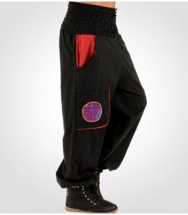Pantalon Hippie Bombacho de Mujer con bolsillo