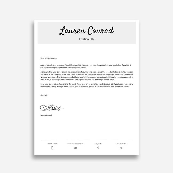 25+ Cover Letter Template Google Docs (With Images