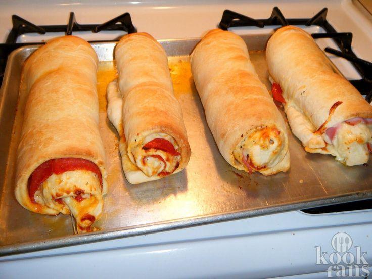 Maak deze schattige pizza-rolletjes met maar 5 ingrediënten, ze zijn echt heerlijk! Dit moet je proberen!