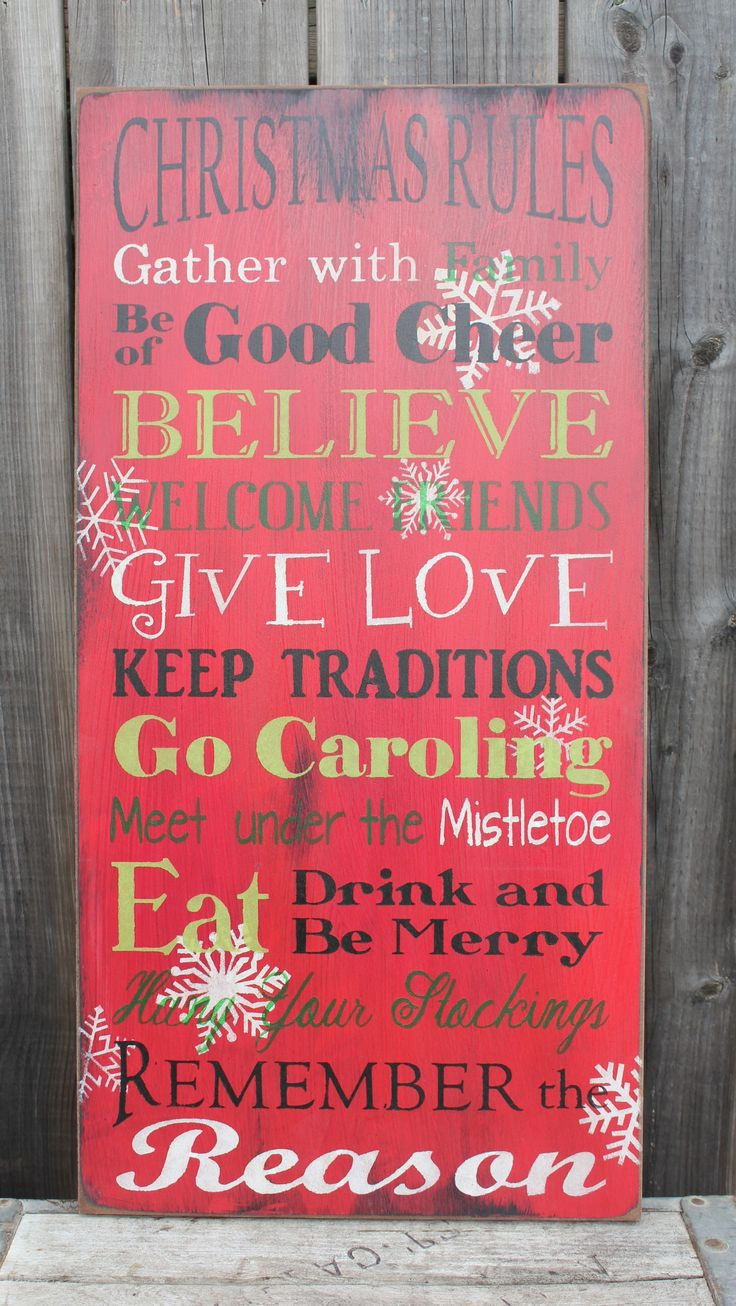 Christmas Rules made by The Primitive Shed, St. Catharines