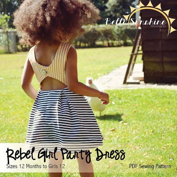 Rebel Girl Party Dress PDF Sewing Pattern by BellaSunshineDesigns