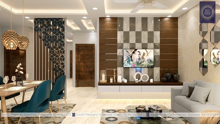 We Have Designed A 2bhk Flat For Mr Amar Hyderabad Have A Look At Our Attractive Interior Designs Indian Living Rooms Interior Design Flat Interior Design