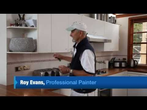 Painting laminate kitchen cabinets how to by White Knight Paints ...