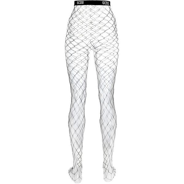 Gcds net tights ($72) ❤ liked on Polyvore featuring intimates, hosiery, tights, net stockings, lingerie stockings, gcds, net tights and lingerie pantyhose