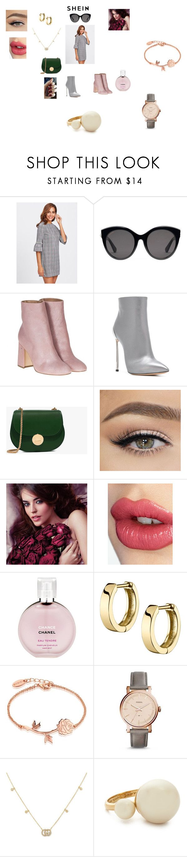 """""""SHEIN - WIN $35 COUPON CODE"""" by annali1983 ❤ liked on Polyvore featuring Gucci, Laurence Dacade, Casadei, Avon, Charlotte Tilbury, Chanel, Disney, FOSSIL and Kate Spade"""