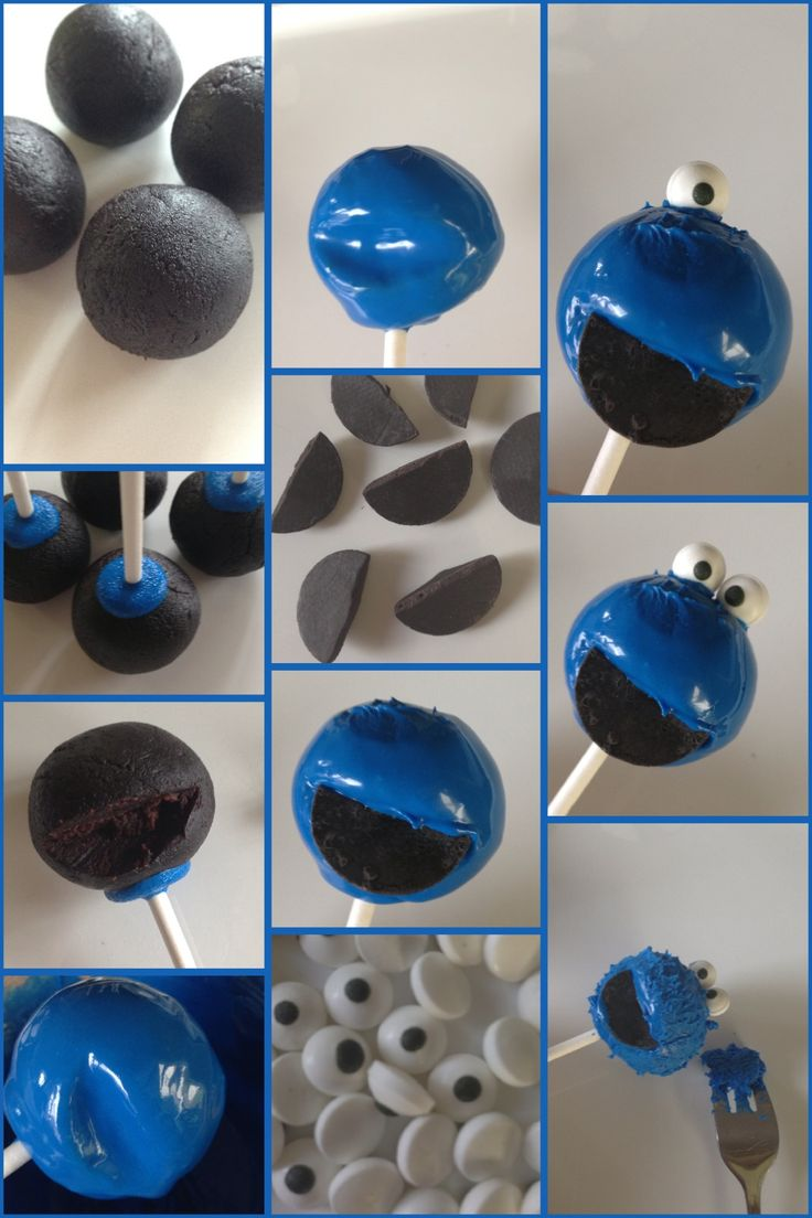 Cookie Monster Cake Pop Tutorial by The Cake Pop Queen - http://www.facebook.com/photo.php?fbid=588898861130268=a.240423862644438.59993.240401052646719=1