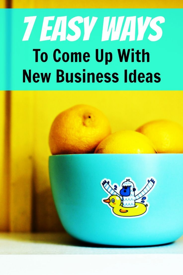 Wow I never knew generating business ideas could be so fast and easy! 7 easy ways to come up with new business ideas, via @sidehustlenation