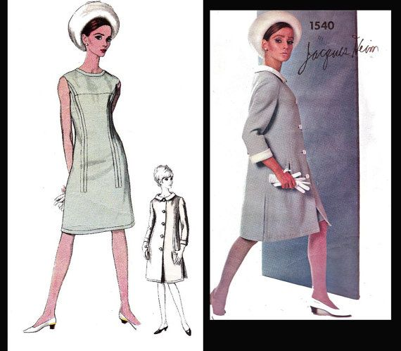Vintage 60s Vogue Paris Original Pattern