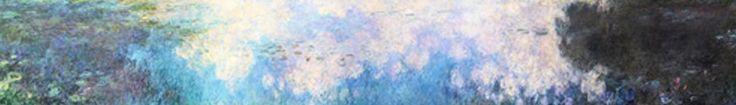MU_MN2084 _ t_Monet _ The Water lillies _ Clouds / Cuadro Arte Famoso, lirios con Nubes