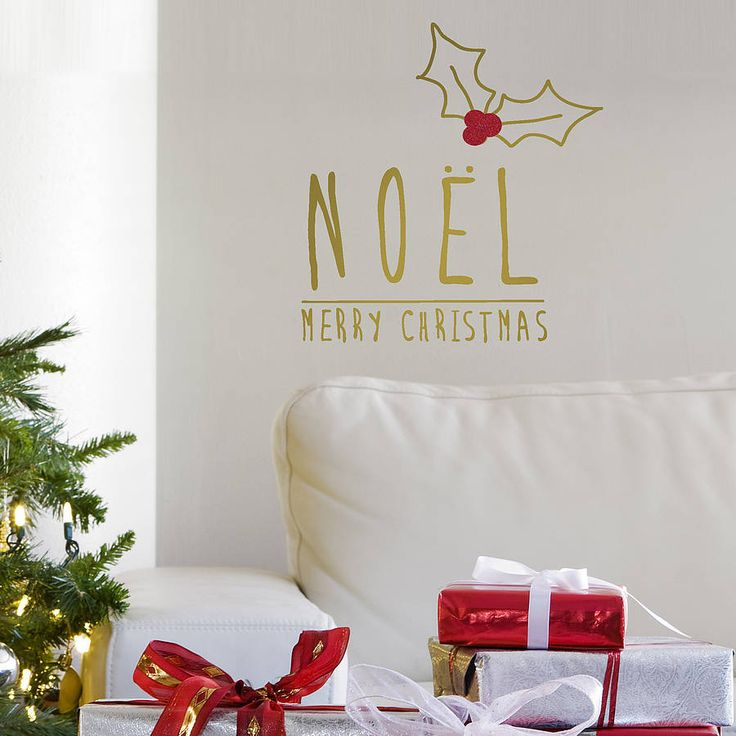 Beautiful Gold U0027Noelu0027 Christmas Wall Sticker For Your Walls This Christmas,  Perfect To Part 68