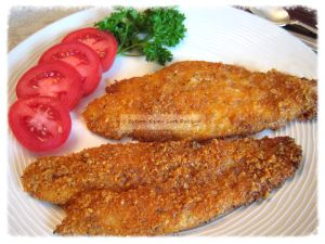 I hate standing over a pan of hot, popping grease to do traditional deep frying.  But I do love me some fried fish.  It's a Southern tradition, fish fries. Wish my husband were as fond of fried fis...