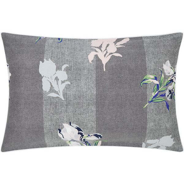 Kenzo Iris Pillowcase - 50x75cm (190 BRL) ❤ liked on Polyvore featuring home, bed & bath, bedding, bed sheets, grey, kenzo, grey floral bedding, floral pillow case, grey pillow cases and gray floral bedding