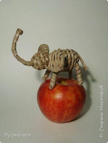 Мастер-класс Поделка изделие Плетение Слонёнок Бумага Трубочки бумажные фото 22