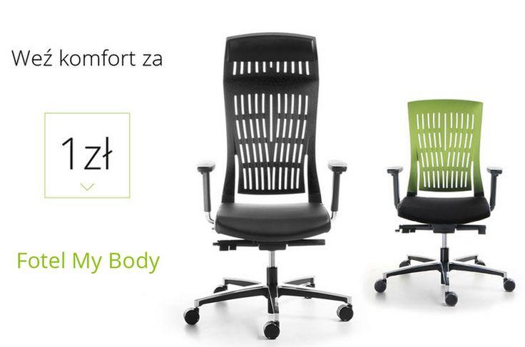 KOMFORT ZA 1ZŁ!!!  Przy zakupie mebli biurowych za 4000 zł netto otrzymają Państwo fotel obrotowy My Body O WARTOŚCI 812 ZŁ ZA 1 ZŁ!  Szczegółowych informacji udzielają nasi handlowcy #elzap #meblebiurowe #mybody #promotion #promocja www.elzap.eu