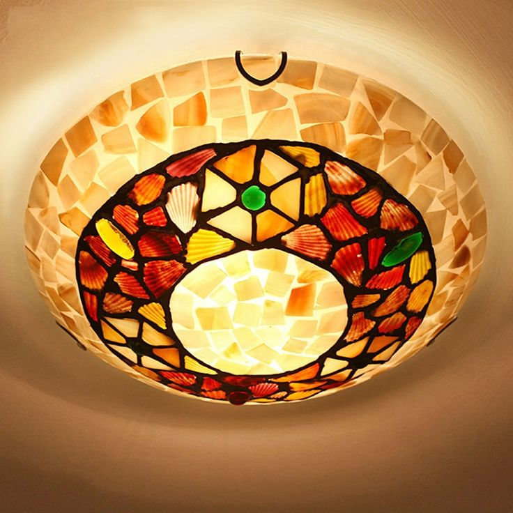 84.59$  Buy here  - tiffany ceiling light Bohemia lighting include LED bulb for bed living study room mediterranean sea rural lamp free shipping
