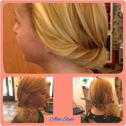 Fishtail Braid stilosamente lavorata! Treccia a spina di pesce by Alex Style!  #capelli #hair #hairstylist #parrucchiere #acconciatore #hairstyles