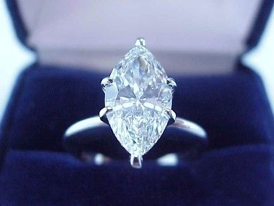 Marquise Cut Diamond Ring: 2.40 carat with 1.90 ratio in 6-prong Solitaire style mounting