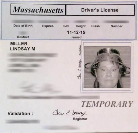 The Massachusetts Registry of Motor Vehicles has agreed to allow a Pastafarian to take her license photo in religious headgear -- a pasta colander.