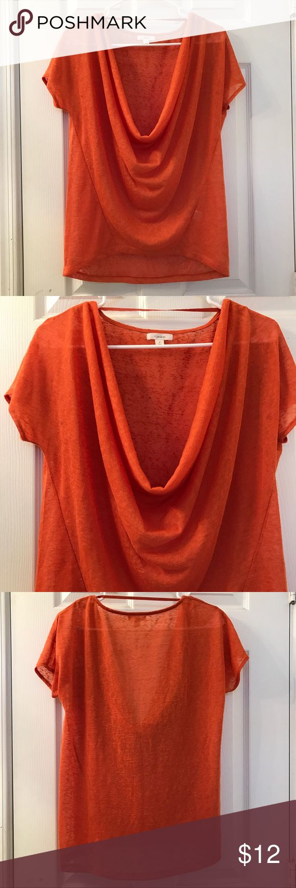 🎉Sale🎉Caslon Burnt Orange Short Sleeve Top SizeS 🎉One day sale only, prices will return to original price after today🎉Caslon short sleeve top. Size S. Burnt orange color. Semi sheer knit. Has a low drape neck. 100% polyester. Super cute and perfect for a day out on the town! Measurements: underarm to underarm- 19 inches, top of shoulder to bottom of hem- 25 inches, length of sleeve- 5.5 inches. Always looking for your best offer! Caslon Tops Tees - Short Sleeve