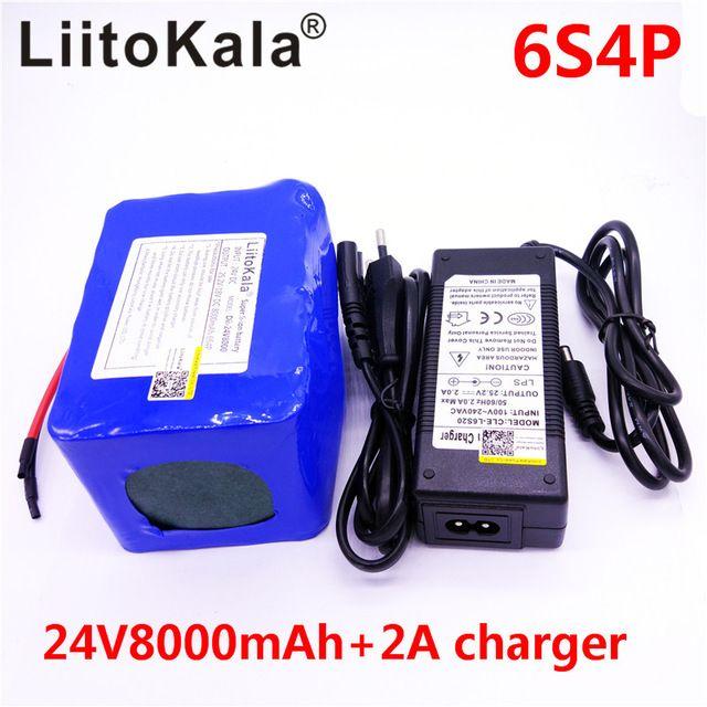 >> Click to Buy << HK esooter LiitoKala 24 v 8Ah bateria DE litio da bateria 24 v 10Ah li-ion para cadeiras DE rodas bateria DC para 250 w biciclet #Affiliate