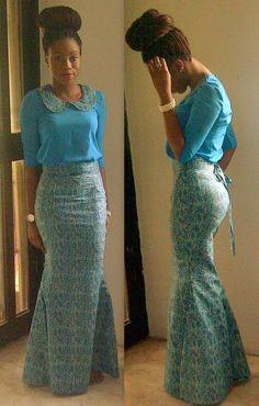 Ankara mermaid skirt