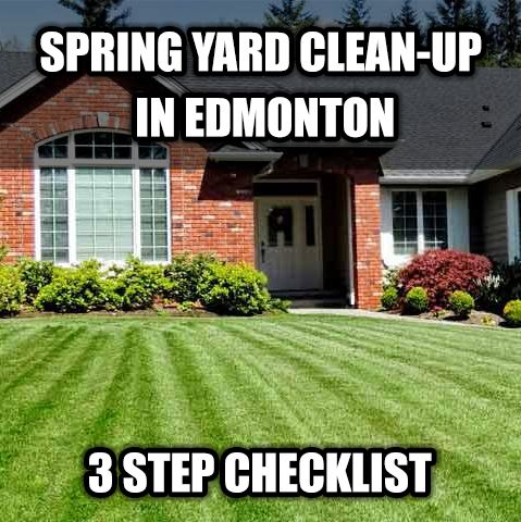 If you would like to get your spring yard clean-up off to a QUICK and AMAZING Start this Spring, we've got a 3 Step Spring Yard Clean-up Checklist to help you cover the essential basics! #landscaping #landscaper #spring #springcleanup #yard #yardcleanup #lawn #lawnmaintenance #lawncare  http://www.edmontonlandscapingoutdoorspace.com/spring-yard-clean-up-edmonton/