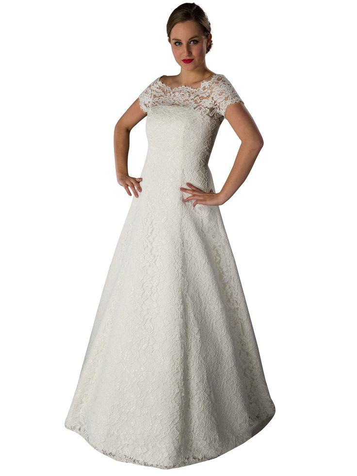 Brautkleid - Spitze - mit Bolero - ivory Traumhaft schönes Brautkleid ...