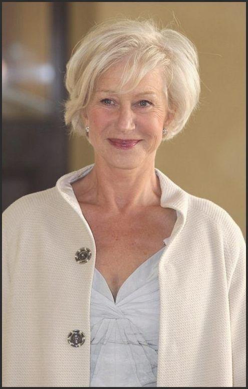 Einzigartige Frisuren für über 60 Jahre alte Frau